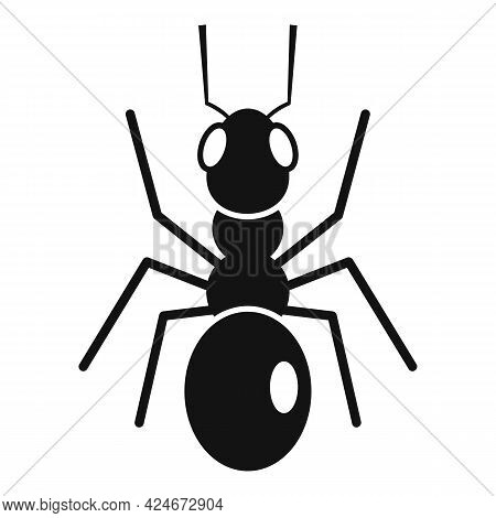 Cute Ant Icon. Simple Illustration Of Cute Ant Vector Icon For Web Design Isolated On White Backgrou