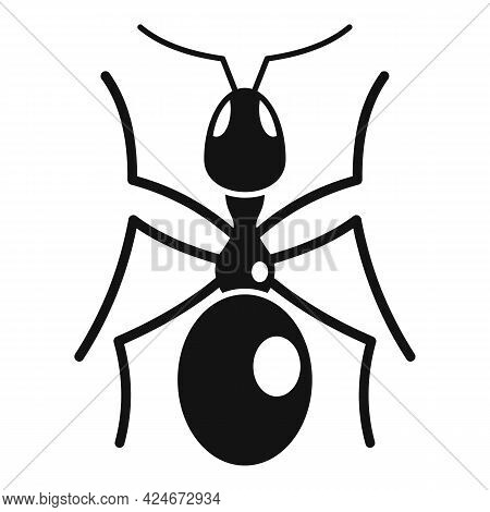 Queen Ant Icon. Simple Illustration Of Queen Ant Vector Icon For Web Design Isolated On White Backgr