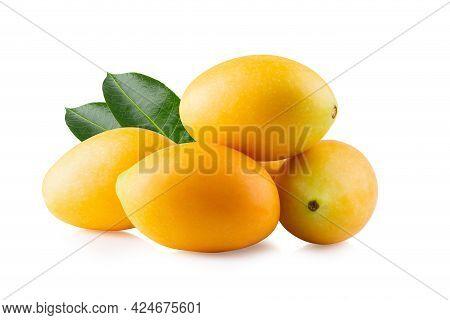 Sweet Marian Plum Fruit Isolated On White Background