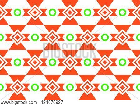 Beautiful Ethnic Seamless Pattern Elements Collection In Bright. Can Use Geometric Seamless Pattern