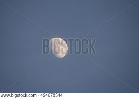 The Moon In The Sky On A Summer Morning