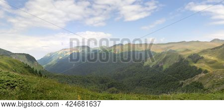 Beautiful Mountains In National Park Biogradska Gora. Montenegro