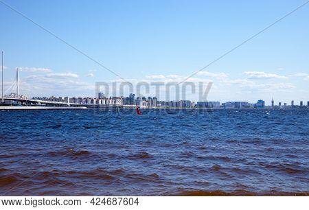 View Of The Krestovsky Island In Saint Petersburg, Russia.