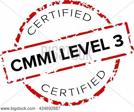 Cmmi (capability Maturity Model Integration) Certified Level 3 Stamp Or Logo.