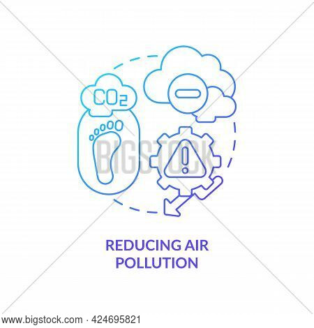 Reducing Air Pollution Concept Icon. Lowering Carbon Footprint Abstract Idea Thin Line Illustration.