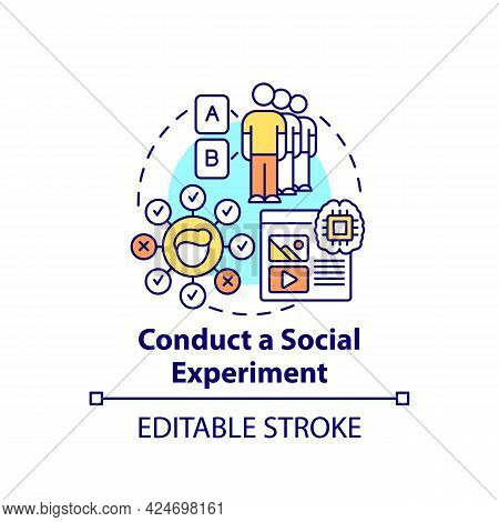 Conduct Social Experiments Concept Icon. Viral Content Method Abstract Idea Thin Line Illustration.