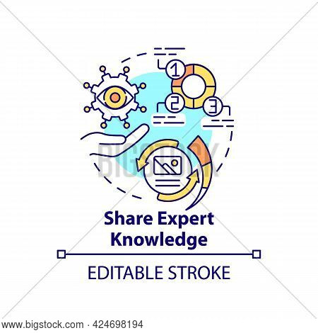 Share Expert Knowledge Concept Icon. Viral Content Method Abstract Idea Thin Line Illustration. Trus