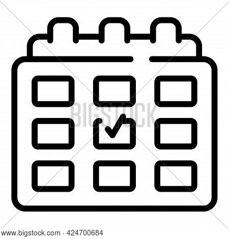 Regulated Products Calendar Icon. Outline Regulated Products Calendar Vector Icon For Web Design Iso