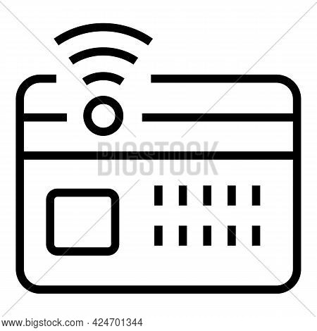 Subway Card Ticket Icon. Outline Subway Card Ticket Vector Icon For Web Design Isolated On White Bac