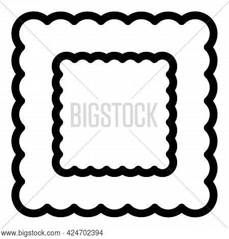 Ravioli Homemade Icon. Outline Ravioli Homemade Vector Icon For Web Design Isolated On White Backgro