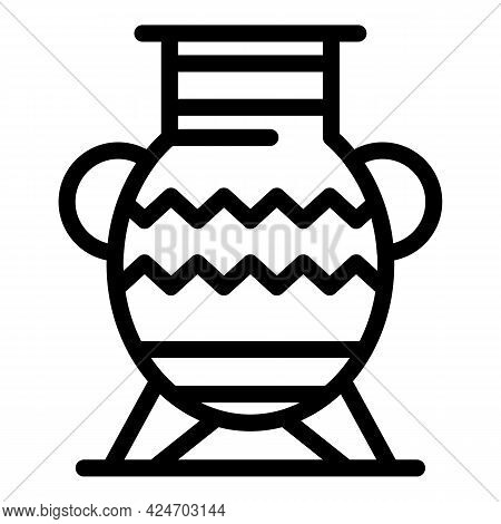 Expedition Ancient Vase Icon. Outline Expedition Ancient Vase Vector Icon For Web Design Isolated On