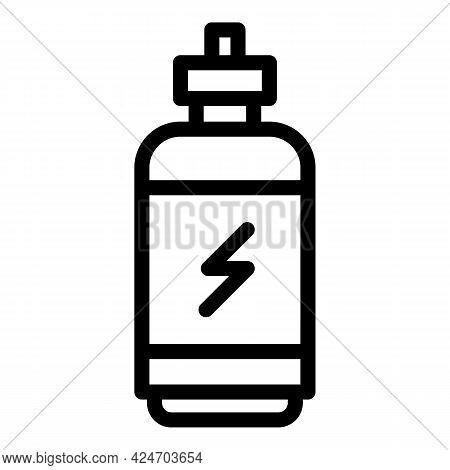 Runner App Energy Bottle Icon. Outline Runner App Energy Bottle Vector Icon For Web Design Isolated