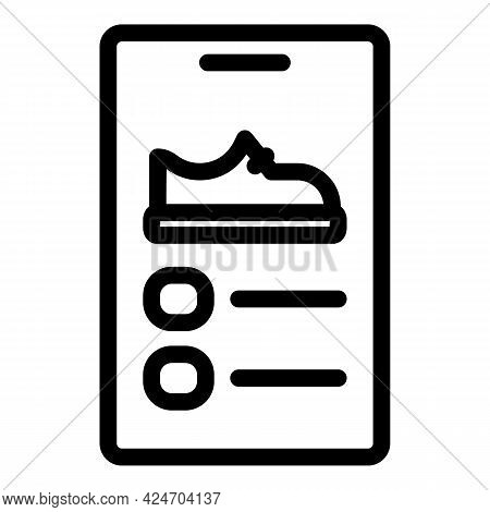 Runner Smartphone Shoes Icon. Outline Runner Smartphone Shoes Vector Icon For Web Design Isolated On
