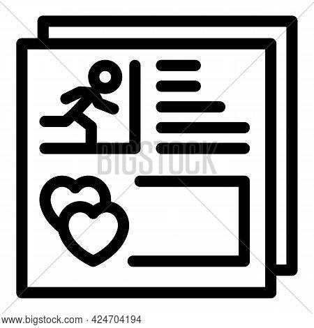 Runner Cv Icon. Outline Runner Cv Vector Icon For Web Design Isolated On White Background