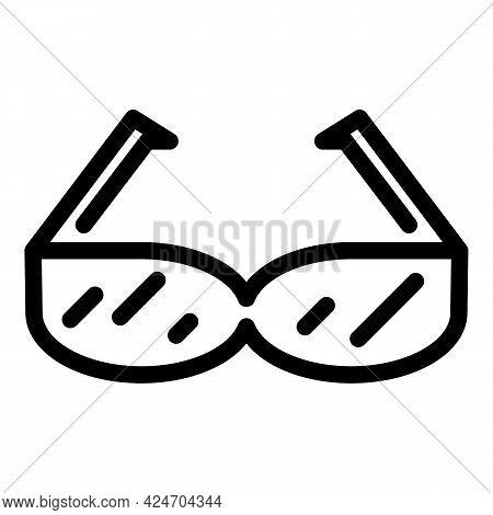 Runner Sunglasses Icon. Outline Runner Sunglasses Vector Icon For Web Design Isolated On White Backg
