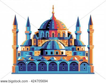 Istanbul Sultanahmet Blue Mosque Building In Flat