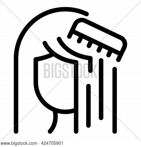 Coiffure Procedure Icon. Outline Coiffure Procedure Vector Icon For Web Design Isolated On White Bac