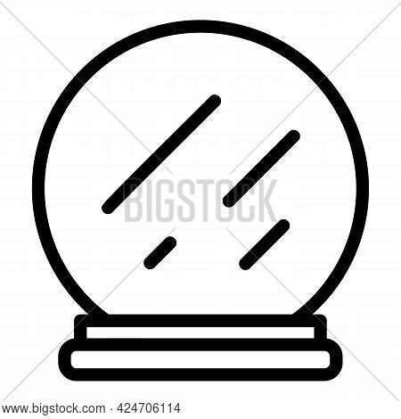 Coiffure Mirror Icon. Outline Coiffure Mirror Vector Icon For Web Design Isolated On White Backgroun