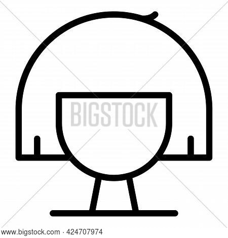 Glamour Wig Icon. Outline Glamour Wig Vector Icon For Web Design Isolated On White Background