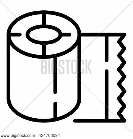 Campsite Paper Roll Icon. Outline Campsite Paper Roll Vector Icon For Web Design Isolated On White B