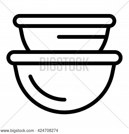 Campsite Food Pots Icon. Outline Campsite Food Pots Vector Icon For Web Design Isolated On White Bac