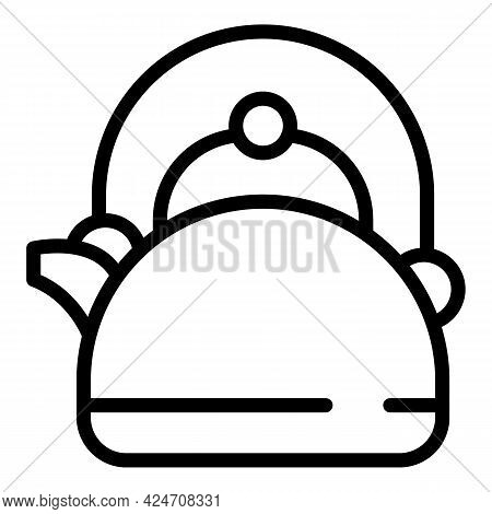Campsite Kettle Icon. Outline Campsite Kettle Vector Icon For Web Design Isolated On White Backgroun