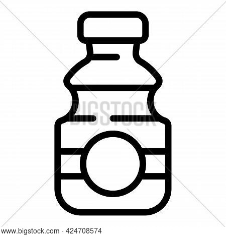 Campsite Water Flask Icon. Outline Campsite Water Flask Vector Icon For Web Design Isolated On White