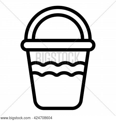 Campsite Bucket Icon. Outline Campsite Bucket Vector Icon For Web Design Isolated On White Backgroun