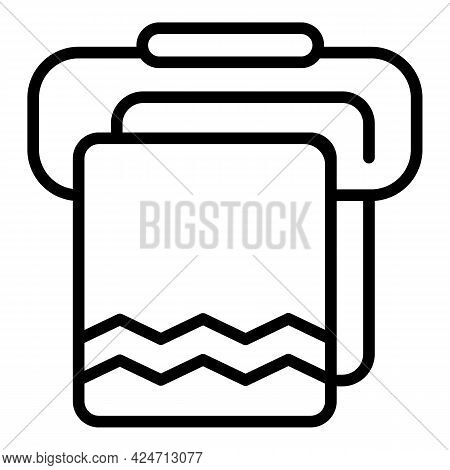 Morning Bath Towel Icon. Outline Morning Bath Towel Vector Icon For Web Design Isolated On White Bac