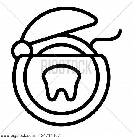 Floss Box Icon. Outline Floss Box Vector Icon For Web Design Isolated On White Background
