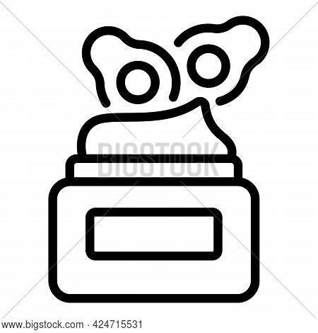 Korean Cosmetics Cream Icon. Outline Korean Cosmetics Cream Vector Icon For Web Design Isolated On W