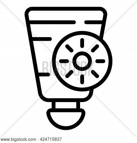 Korean Cosmetics Sunscreen Icon. Outline Korean Cosmetics Sunscreen Vector Icon For Web Design Isola