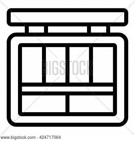 Korean Cosmetics Box Icon. Outline Korean Cosmetics Box Vector Icon For Web Design Isolated On White