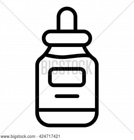 Korean Cosmetics Oil Dropper Icon. Outline Korean Cosmetics Oil Dropper Vector Icon For Web Design I