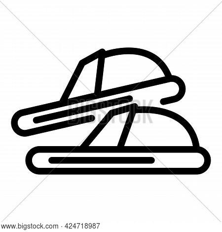 Home Slippers Bedroom Icon. Outline Home Slippers Bedroom Vector Icon For Web Design Isolated On Whi