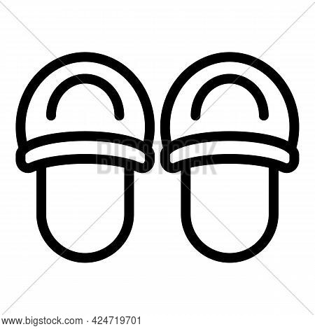 Home Slippers Style Icon. Outline Home Slippers Style Vector Icon For Web Design Isolated On White B