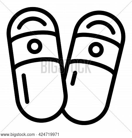 Home Slippers Summer Icon. Outline Home Slippers Summer Vector Icon For Web Design Isolated On White