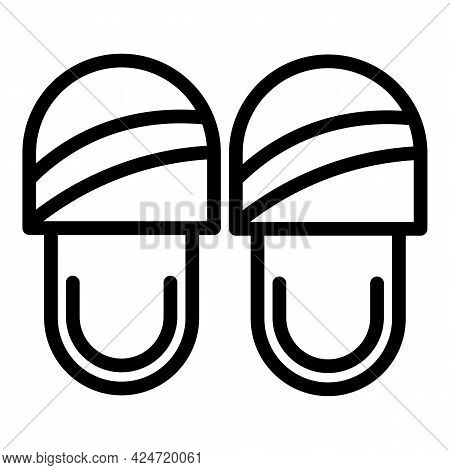 Home Slippers Store Icon. Outline Home Slippers Store Vector Icon For Web Design Isolated On White B