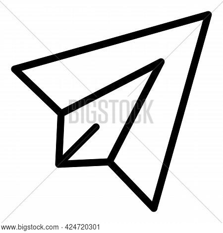 Paper Plane Icon. Outline Paper Plane Vector Icon For Web Design Isolated On White Background