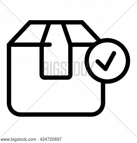 Marketing Parcel Icon. Outline Marketing Parcel Vector Icon For Web Design Isolated On White Backgro