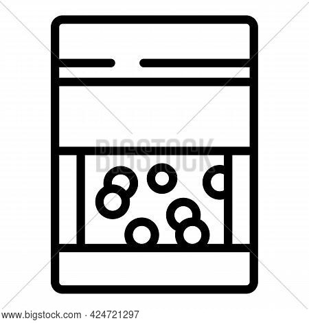 Lentil Package Icon. Outline Lentil Package Vector Icon For Web Design Isolated On White Background
