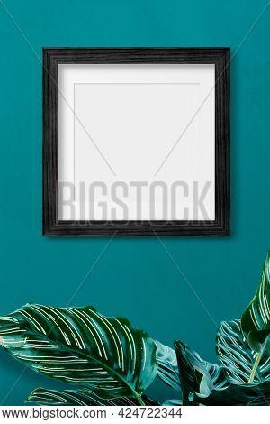 Black photo wall frame mockup