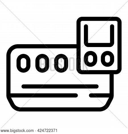 Repair Air Conditioner Program Icon. Outline Repair Air Conditioner Program Vector Icon For Web Desi