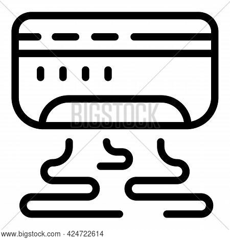 Repair Air Conditioner Home Icon. Outline Repair Air Conditioner Home Vector Icon For Web Design Iso