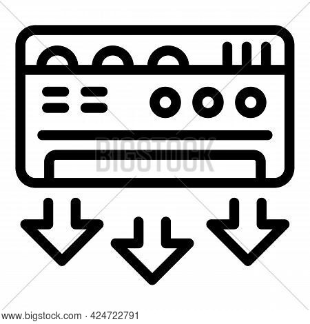 Repair Air Conditioner Forced Icon. Outline Repair Air Conditioner Forced Vector Icon For Web Design