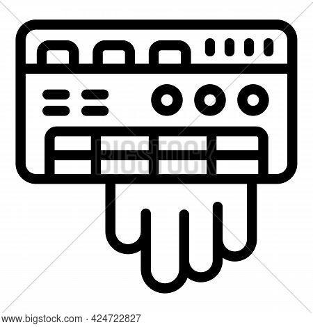 Repair Air Conditioner Electric Icon. Outline Repair Air Conditioner Electric Vector Icon For Web De