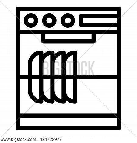 Repair Dishwasher Home Icon. Outline Repair Dishwasher Home Vector Icon For Web Design Isolated On W