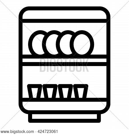 Repair Dishwasher Service Icon. Outline Repair Dishwasher Service Vector Icon For Web Design Isolate