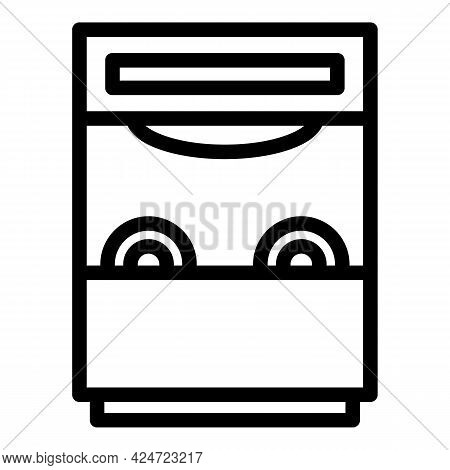 Repair Dishwasher Water Icon. Outline Repair Dishwasher Water Vector Icon For Web Design Isolated On