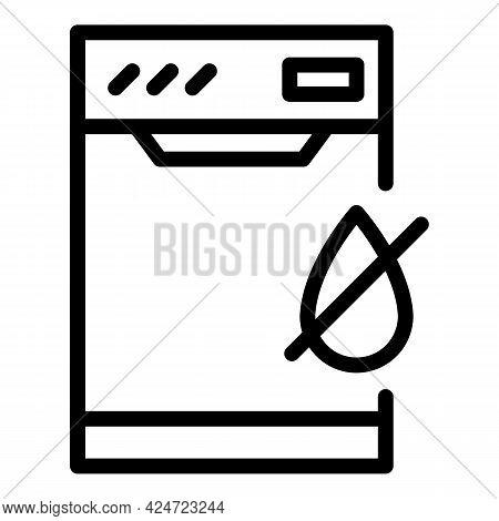Repair Dishwasher No Water Icon. Outline Repair Dishwasher No Water Vector Icon For Web Design Isola